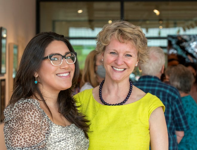 Vanessa Calixto, left, founder and creative director of El Salón, and ArtsWorcester executive director Juliet Feibel. When they discovered their organizations were planning events on the same day, they agreed to combine efforts in a Downtown Block Party set for June 12.