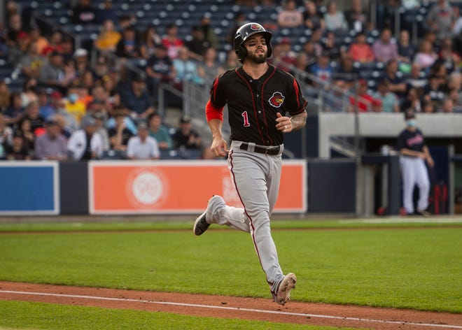 Former Red Sox player Blake Swihart got a warm welcome from Worcester fans, despite playing for Rochester.