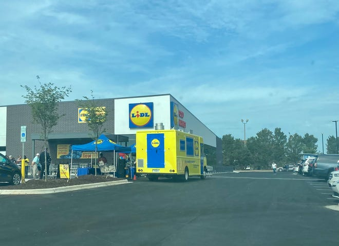 Lidl, at 3010 S. Church St. in Burlington, held its grand opening on Wednesday.
