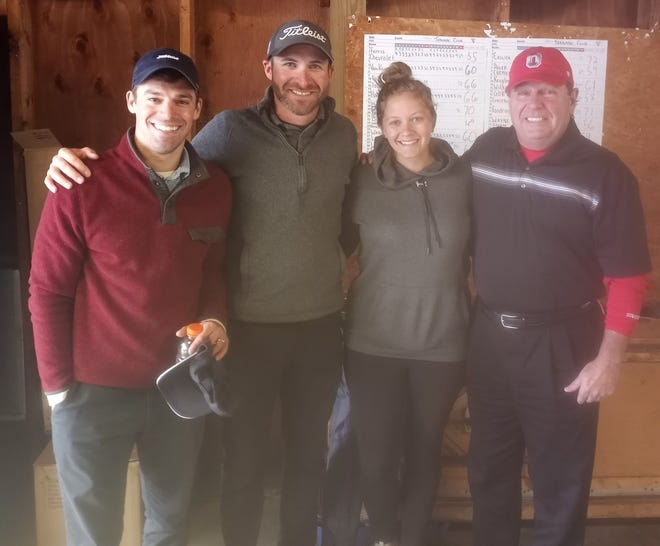 The Dover Tornado Club Golf Outing winners from Ferris Chevrolet were Sam Gergley, Jacob Brown, Shelby Thompson and Bill Ferris.