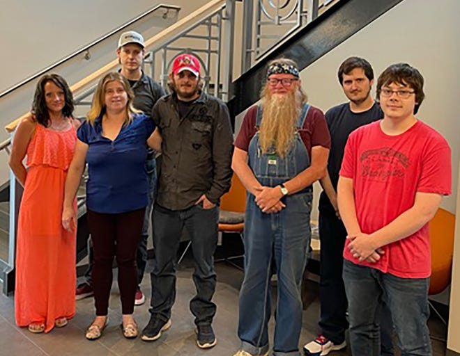 The fifth graduating class of the Lawrence County Intro to Local Jobs and Skills program, pictured from left: Stephanie Fleck, Eva Phillips, Jesse Prince, Derik Phillips, Tony Ledford, Matthew Green and Tyler Huber.