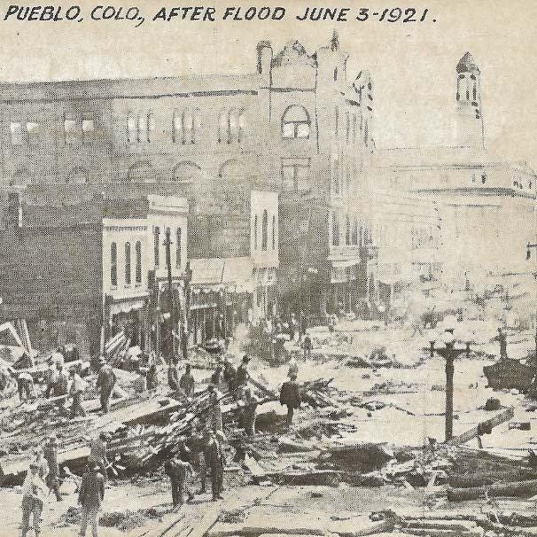 Pueblo during the aftermath of the June 3, 1921 flood.