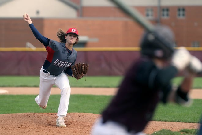 Davey Menches was one of three seniors for the Hartley baseball team, which went 16-5 overall and won the CCL at 6-2. Menches went 2-1 with a 3.45 ERA in 24 1/3 innings.