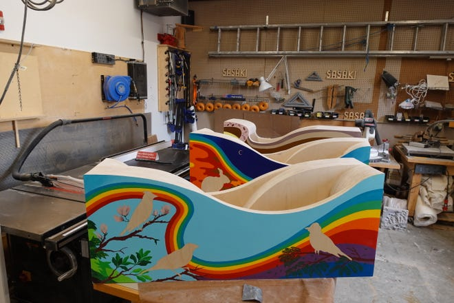 """The Brookline Arts Center will present their 2021 public art installation, """"All About Us,"""" a collaborative project between local artist Ponnapa Prakkamakul and Fabrication Studio at Sasaki, in Monmouth Park, 86 Monmouth St., Brookline, through Oct. 31."""