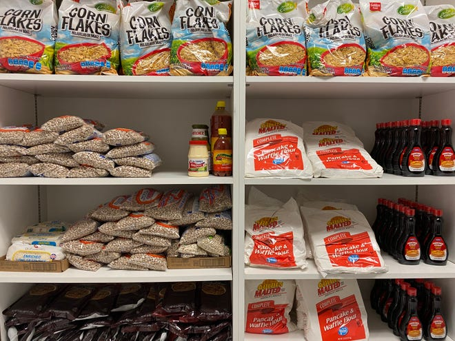 """""""Grace's Pantry"""" will provide food to community members in West Oso ISD such as chips, cookies, meat and fruit. The food pantry opened to the community Wednesday, June 2, 2021."""
