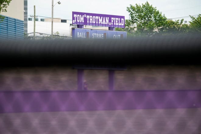 Cherry Hill West's Tom Trotman Field before the 1st round of the South Jersey Group 3 playoffs Wednesday, June 2, 2021 in Cherry Hill, N.J. Former coach Trotman died the night prior.