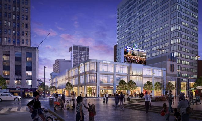 An artist's rendering of The Foundry at Fifth and Vine streets across from Fountain Square. Royce, a new French brasserie, is slated to open at The Foundry later this year.