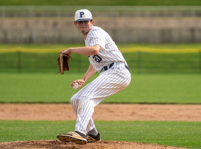 Pingry's Thomas Henry pitches against Union Catholic in the first round of the NJSIAA North Non-Public A Tournament on  June 1, 2021.