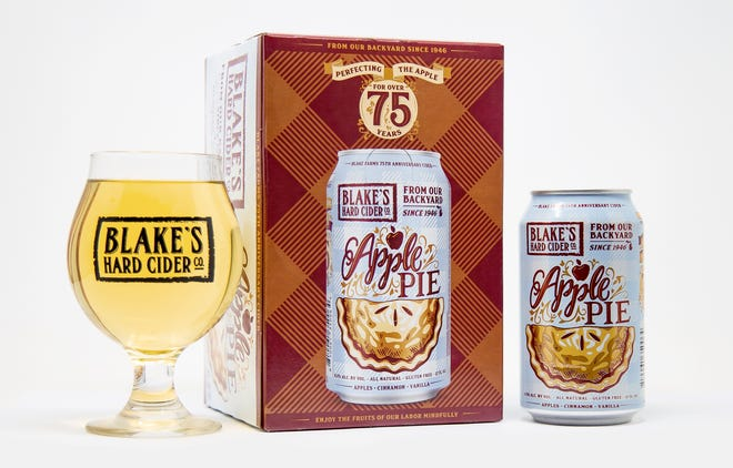 Limited edition Blake's Apple Pie Hard Cider celebrates Blake's Orchard & Cider Mill's 75th anniversary.