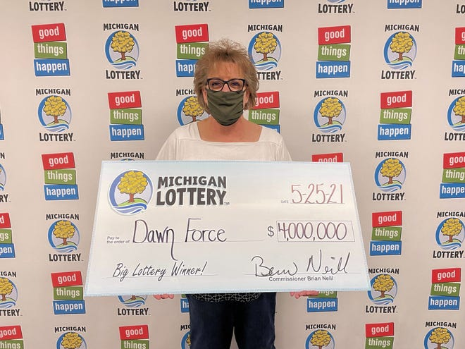 Dawn Force, 62, of Rockford recently won $4 million playing the Michigan Lottery's Worth Millions instant game.