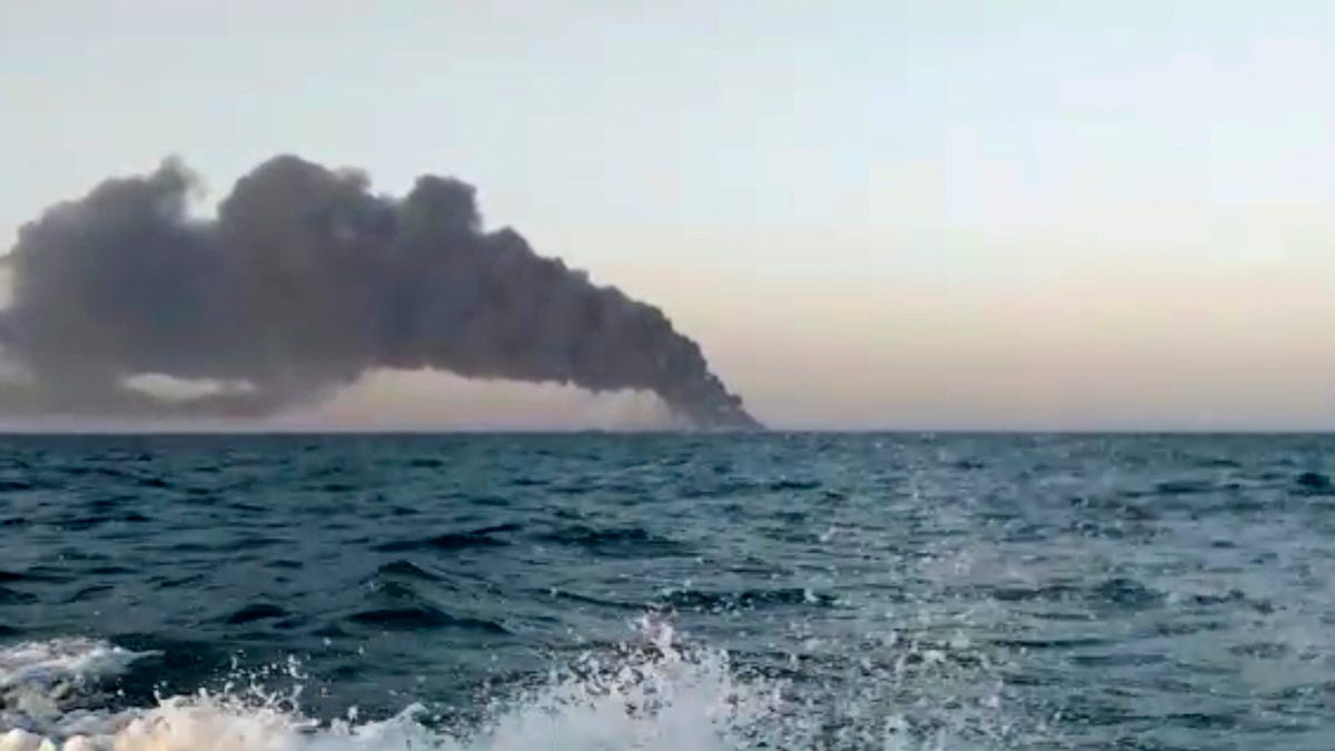 Iran's largest warship catches fire, sinks in Gulf of Oman 3