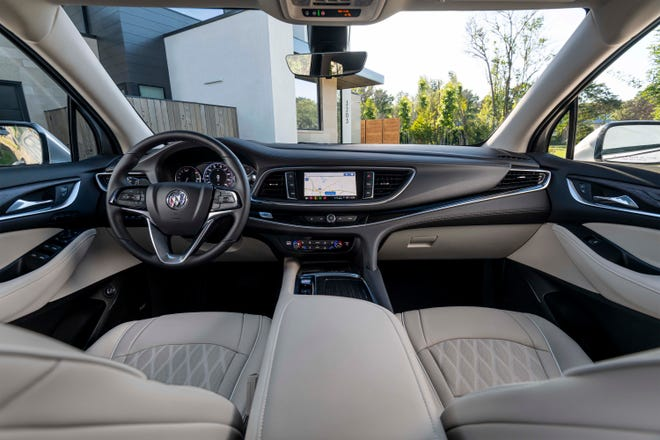 The 2022 Buick Enclave can be equipped with a heads-up display.