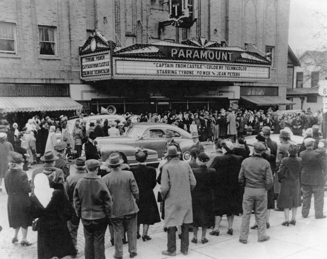 The Paramount Theater in Fremont during the 1940s.