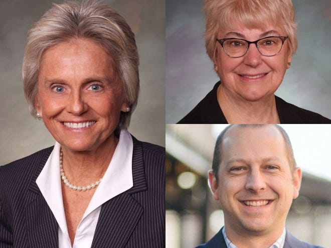 Clockwise from left, Sen. Joann Ginal, Rep. Cathy Kipp and Rep. Andrew Boesenecker are pictured. They represent Fort Collins in the Colorado General Assembly.