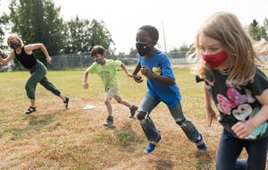 Children play during a summer learning program.
