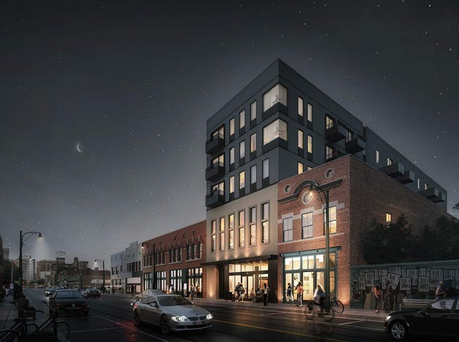 Renderings show the proposed apartment complex at 386 S. Main St.