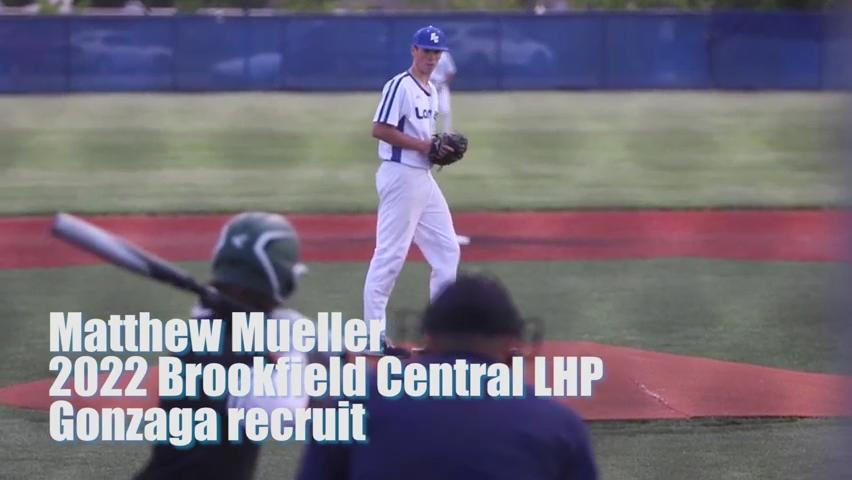 Prep pitcher spotlight: Gonzaga recruit Matthew Mueller fans eight for Brookfield Central
