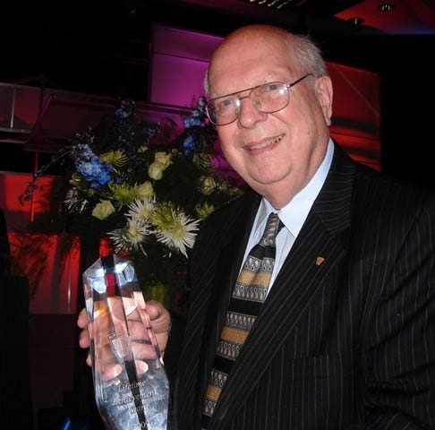 It was a proud moment when Irv Poston received a Lifetime Achievement Award in 2009 from The Society of Plastics Engineers, one of many awards Poston received over the years.