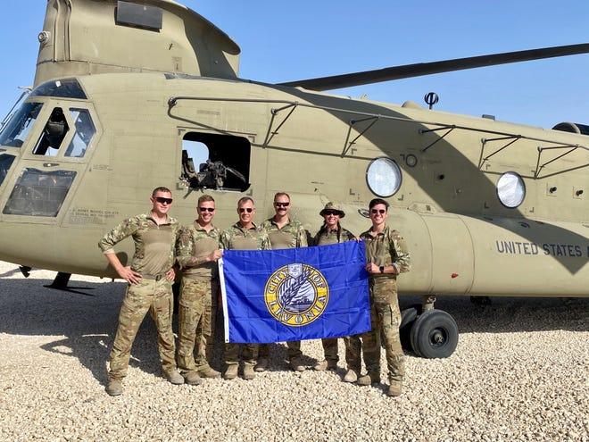 Livonia Councilman Rob Donovic, far right, during his deployment.