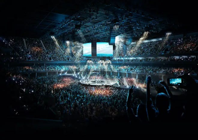 A rendering of Co-Op Live Arena in Manchester, England, an OVG project in the works.