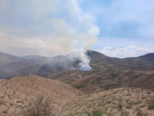 Mescal Fire burning southeast of Globe on June 1, 2021.