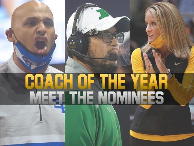 2021 Coach of the Year nominees (L-R): Rapid City Stevens girls basketball coach Michael Brooks, Pierre football coach Steve Steele and Northwestern volleyball coach Nora Groft.