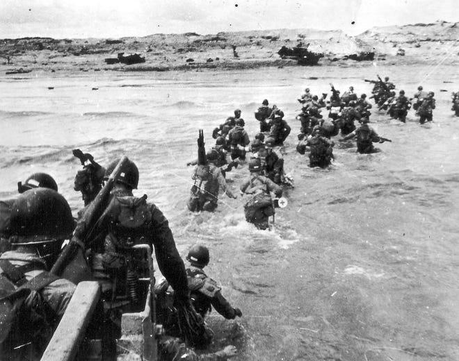 Utah Beach Landing on D-Day.