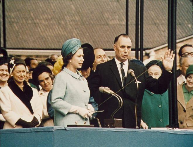 Queen Elizabeth II presides over the 1,777-passenger Queen Elizabeth II designation on September 20, 1967.
