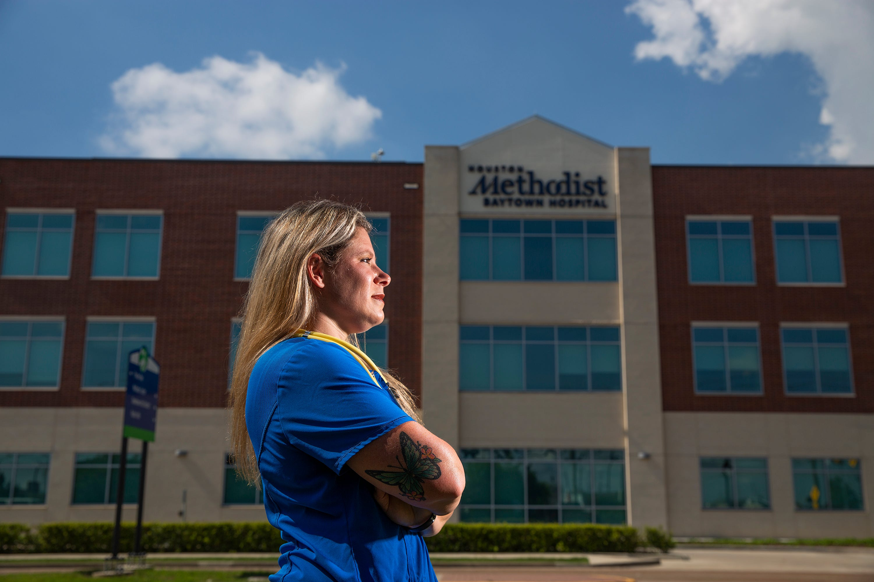 Jennifer Bridges is a nurse who is leading a campaign and a lawsuit against her employer Houston Methodist Hospital, which is mandating vaccines for workers.