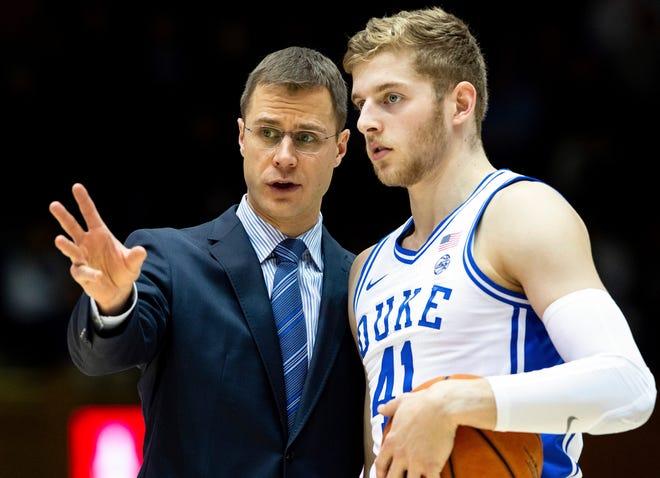 Jon Scheyer, left, has been an assistant coach at Duke for seven years.