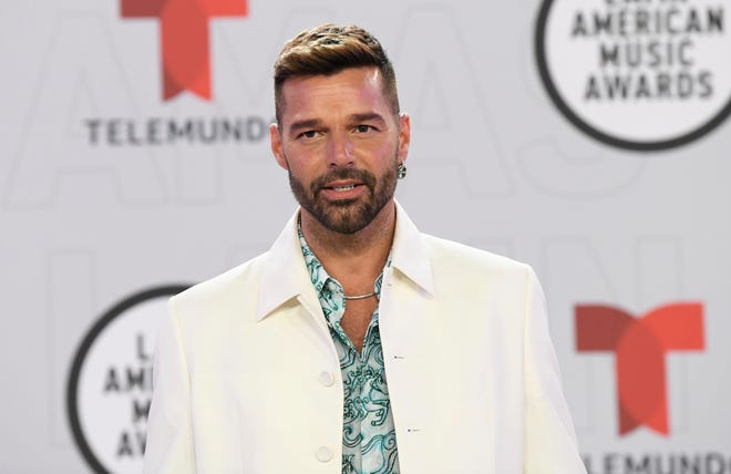 Ricky Martin arrives at the Latin American Music Awards at the BB&T Center on Thursday, April 15, 2021, in Sunrise, Fla.