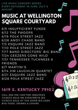 Poster for upcoming Music at Wellington Square Courtyard concert series