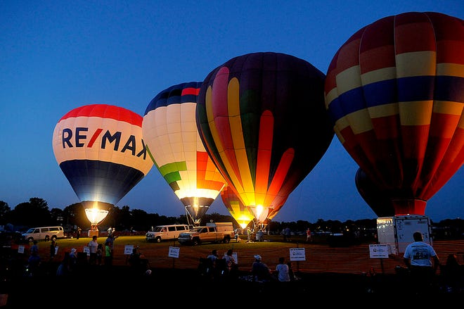 Hot air balloons will glow during this year's Ashland BalloonFest with balloon glows scheduled each night of the festvial, which runs from June 24-26.