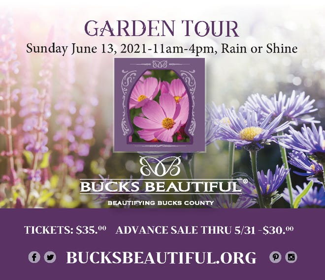The rite of spring event hosted by Bucks Beautiful is back this year after ahiatus during2020 due to the pandemic.The 26th annual fundraiser willbe held 11 a.m.-4 p.m. June 13 and feature sixlocalgardens.