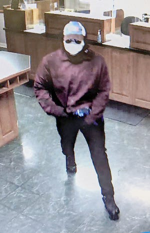 A male subject, approximately 6-1, entered the Alliant Bank in Pilot Grove on Wednesday and demanded money before leaving on foot with an undisclosed amount of cash. Pilot Grove Police Chief Pete Busalacki said the suspect is still at large.