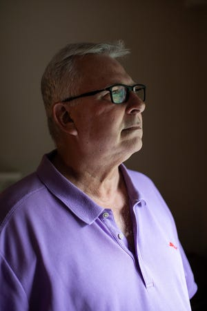 """Rob Blough, 62, of Dublin,  is hopeful the Food and Drug Administraation soon will approve a new drug that could slow the progression of Alzheimer's, saying he """"can't afford to wait"""" around for another treatment breakthrough. He was diagnosed with early onset Alzheimer's disease and Lewy body dementia in 2015."""