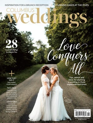 The spring/summer 2021 issue of Columbus Weddings