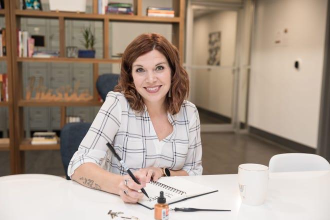 Kristin Baisden, owner of Lovely Arrow Designs