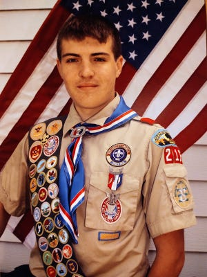 Garin Stimpert of Bucklin, was awarded the rank of Eagle Scout after an award ceremony was held on May 22.