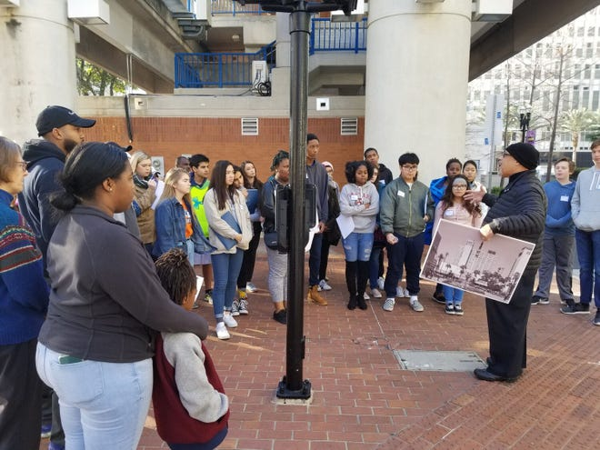 A photo from a past UNF Bridges Summer Camp field trip. The high school camp is focused on social justice.
