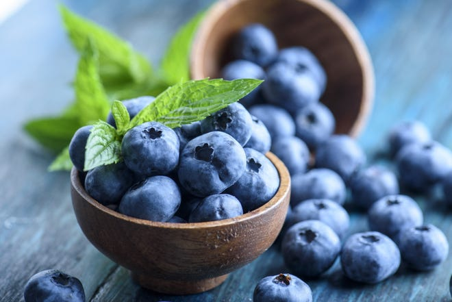 Blueberries are a delicious addition to cakes and cobblers.