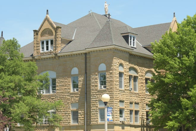 The Adair County Courthouse.