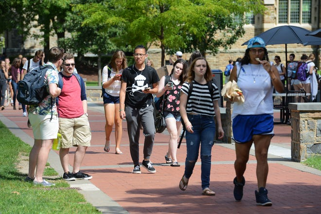 Students who work in the admissions department at Hamilton College, pictured here in an O-D file photo, will vote on whether to unionize. If the vote passes, they could be the first student admissions workers in the country to unionize.