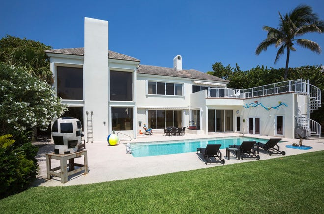 A photo taken a few years ago shows the ocean-facing side of the Palm Beach house at 137 E. Inlet Drive, which just changed hands for a recorded $25.26 million.