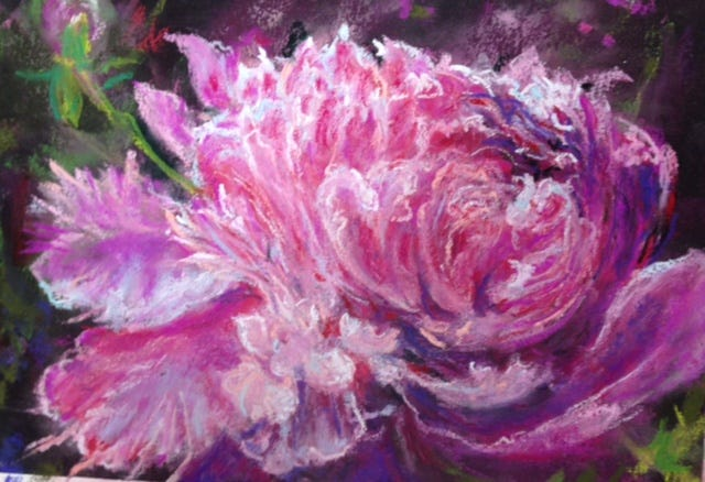 """""""Elegance,"""" a pastel painting by Catherine DiPentima"""