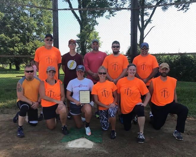 Morgantown Christiain Church received the Reverend Robert Voahl team sportsmanship award for the Martinsville Church Softball League in 2020. (Kip Wesner photo)