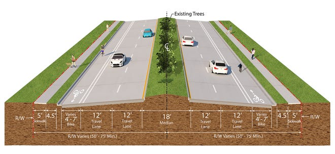 A rendering of the U.S. 1 resurfacing project.