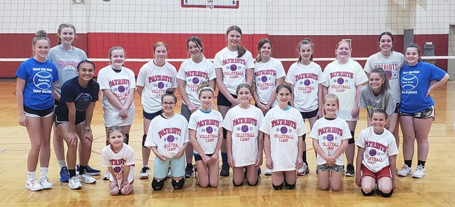 The Owen Valley High School volleyball program recently held their 2021 camp for area youth. In attendance was, front row, from left: Kadence Henderson, Kiersten Collins, Abigail Collins, Rya White, Bella Madorin, Alyssa Livingston, and Lilly Miller. Middle Row: Bri Davis and Emma Bault. Back Row: Lilly Wallace, Reagan Martin, Mackenzie Michael, Addison Applegate, Sydney Close, Madi Ammick, Cammie King, Hannah Bixler, Evah Mills, Jaylan Kay and Emily Bray.
