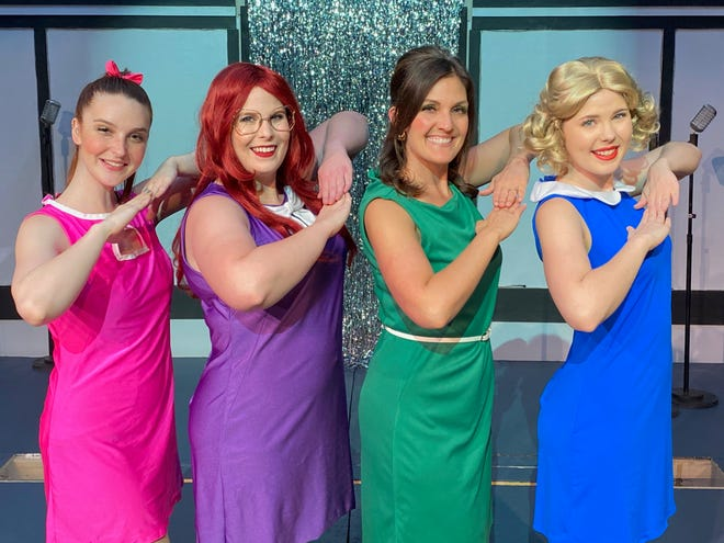 """Abby Morris, Christina Stewart, Alicja Carter and Ginny Stewart return to play the roles they originated for Shawnee audiences in January 2020 in the sequel to Marvelous Wonderettes: """"Dream On."""" Set in the '60s and '70s, the jukebox musical features song favorites from those eras. Shawnee Little Theatre presents the show June 11-20."""