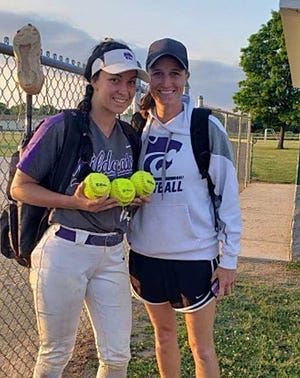 Kali Heivilin hit three home runs on Wednesday for Three Rivers, raising her single-season total to 28 for a new MHSAA record.